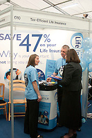 Stand promoting tax efficient Life Assurance, Kent2020Vision show, County Showground, Kent.