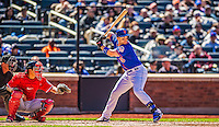21 April 2013: New York Mets third baseman David Wright in action against the Washington Nationals at Citi Field in Flushing, NY. The Mets shut out the visiting Nationals 2-0, taking the rubber match of their 3-game weekend series. Mandatory Credit: Ed Wolfstein Photo *** RAW (NEF) Image File Available ***