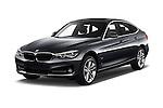 2017 BMW 3-Series-GT Sport 5 Door Hatchback Angular Front stock photos of front three quarter view