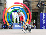 Wales' Geraint Thomas sets off on his time trial<br /> <br /> Photographer Chris Vaughan/Sportingwales<br /> <br /> 20th Commonwealth Games - Day 8 - Thursday 31st July 2014 - Cycling - time trial - Glasgow - UK