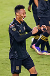 Mark-Anthony Kaye of Los Angeles FC (USA) celebrates before over Club America (MEX) during their CONCACAF Champions League Semi Finals match at the Orlando's Exploria Stadium on 19 December 2020, in Florida, USA. Photo by Victor Fraile / Power Sport Images