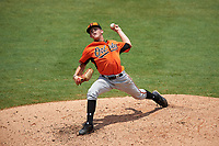Pitcher DL Hall (9) of Houston County High School in Warner Robins, Georgia playing for the Baltimore Orioles scout team during the East Coast Pro Showcase on July 30, 2015 at George M. Steinbrenner Field in Tampa, Florida.  (Mike Janes/Four Seam Images)