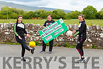 Ailís Murphy, Keith MCguigan and Ciara and Ciara Murphy who are preparing for the Mid Kerry Ladies Gaels #1milionSolos challenge on Sunday 31st May