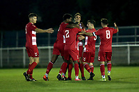 Agyenim Asenso Agyeman of Ilford scores the second goal for his team and celebrates with his team mates during Redbridge vs Ilford, Essex Senior League Football at Oakside Stadium on 15th October 2021