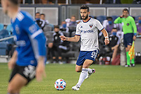 SAN JOSE, CA - MAY 01: Felipe Martins #8 of DC United passes the ball during a game between San Jose Earthquakes and D.C. United at PayPal Park on May 01, 2021 in San Jose, California.