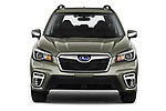 Car photography straight front view of a 2019 Subaru Forester e-Boxer-Premium 5 Door SUV Front View