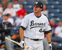 Thomas Collaro of the Birmingham Barons hits during the Home Run Derby, part of the 2007 Southern League All-Star Game July 9, 2007, at Trustmark Park in Pearl, Miss. (Photo by:  Tom Priddy/Four Seam Images)