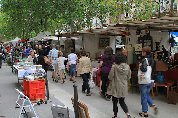 Beth at the Rue Cler street market and the Royal Phare Hotel, Paris, France.