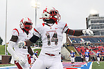 Rutgers Scarlet Knights wide receiver Miles Shuler (14) in action during the game between the Rutgers Scarlet Knights and the SMU Mustangs at the Gerald J. Ford Stadium in Fort Worth, Texas. Rutgers defeats SMU 55 to 52 in triple OT.