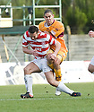 13/02/2010  Copyright  Pic : James Stewart.sct_jspa04_hamilton_v_motherwell  .::  GILES COKE IS CHALLENGED BY MARK MCLAUGHLIN ::.James Stewart Photography 19 Carronlea Drive, Falkirk. FK2 8DN      Vat Reg No. 607 6932 25.Telephone      : +44 (0)1324 570291 .Mobile              : +44 (0)7721 416997.E-mail  :  jim@jspa.co.uk.If you require further information then contact Jim Stewart on any of the numbers above.........