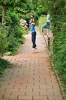 August 4, 2014, Netherlands, Dordrecht, TC Dash 35, Tennis, National Junior Championships, NJK,  warming up<br /> Photo: Tennisimages/Henk Koster