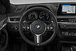Car pictures of steering wheel view of a 2020 BMW X2 M-Sport-X 5 Door SUV Steering Wheel