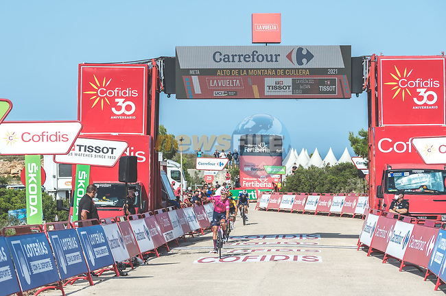 Magnus Cort Nielsen (DEN) EF Education-Nippo wins Stage 6 of La Vuelta d'Espana 2021, running 158.3km from Requena to Alto de la Montaña Cullera, Spain. 19th August 2021.    <br /> Picture: Cxcling | Cyclefile<br /> <br /> All photos usage must carry mandatory copyright credit (© Cyclefile | Cxcling)