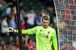 Liverpool FC goalkeeper Simon Mignolet reacts during the Premier League Asia Trophy match between Liverpool FC and Crystal Palace FC at Hong Kong Stadium on 19 July 2017, in Hong Kong, China. Photo by Weixiang Lim / Power Sport Images