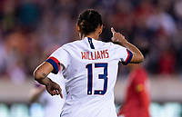 HOUSTON, TX - JANUARY 31: Lynn Williams #13 of the United States celebrates during a game between Panama and USWNT at BBVA Stadium on January 31, 2020 in Houston, Texas.