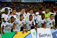 BOGOTÁ-COLOMBIA, 15-02-2020: Jugadores de Boyacá Chicó F.C., posan para una foto, antes de durante partido entre Millonarios y Boyacá Chicó F.C. de la fecha 5 por la Liga BetPlay DIMAYOR 2020 jugado en el estadio Nemesio Camacho El Campín de la ciudad de Bogotá. / Players of Boyaca Chico F.C., pose for a photo, prior a match between Millonarios and Boyaca Chico F.C. of the 5th date for the BetPlay DIMAYOR Leguaje I 2020 played at the Nemesio Camacho El Campin Stadium in Bogota city. / Photo: VizzorImage / Luis Ramírez / Staff.
