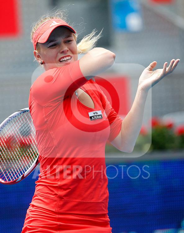 Caroline Wozniacki during Mutua Madrid Open 2012 match on may 6th 2012...Photo: Cesar Cebolla / ALFAQUI