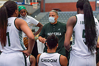 Otis Hughley headcoach of Nigera pictured during a basketball game between Nigeria and Puerto Rico on Friday 28 th of May 2021 in Kortrijk , Belgium . PHOTO SPORTPIX.BE   SPP   STIJN AUDOOREN