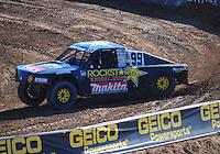Dec. 9, 2011; Chandler, AZ, USA;  LOORRS pro 4 unlimited driver Kyle LeDuc during qualifying for round 15 at Firebird International Raceway. Mandatory Credit: Mark J. Rebilas-