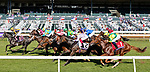 November 6, 2020: Horses race during the Juvenile Turf Presented By Coolmore America on Breeders' Cup Championship Friday at Keeneland on November 6, 2020, in Lexington, Kentucky. Matt Wooley/Eclipse Sportswire/Breeders Cup/CSM