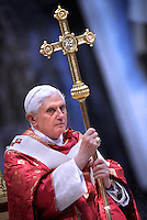 Pope Benedict XVI leads Pentecost Mass in Saint Peter's Basilica at the Vatican..May 11, 2008.May 11, 2008..                    .