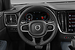 Car pictures of steering wheel view of a 2021 Volvo V60 R-Design 5 Door Wagon Steering Wheel