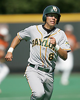 Baylor 3B Shaver Hansen runs to third against Texas on May 3rd, 2008. Photo by Andrew Woolley / Four Seam Images