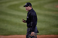 Umpire Tom West during an Eastern League game between the Altoona Curve and Erie SeaWolves on June 3, 2019 at UPMC Park in Erie, Pennsylvania.  Altoona defeated Erie 9-8.  (Mike Janes/Four Seam Images)