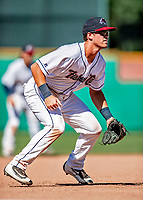 18 July 2018: New Hampshire Fisher Cats infielder Nash Knight in action against the Trenton Thunder at Northeast Delta Dental Stadium in Manchester, NH. The Fisher Cats defeated the Thunder 3-2 in a 7-inning, second game of the day. Mandatory Credit: Ed Wolfstein Photo *** RAW (NEF) Image File Available ***