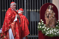 Cardinal Konrad Krajewski,St. Peter's Square in the Vatican during the Pentecost on June 9, 2019 Pope Francis   during  the Pentecost vigil on June 8, 2019