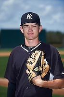GCL Yankees East pitcher Nolan Martinez (22) poses for a photo before a game against the GCL Pirates on August 15, 2016 at the Pirate City in Bradenton, Florida.  GCL Pirates defeated GCL Yankees East 5-2.  (Mike Janes/Four Seam Images)
