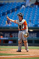Maxwell Shor (13) of Palm Desert High School in La Quinta, CA during the Perfect Game National Showcase at Hoover Metropolitan Stadium on June 20, 2020 in Hoover, Alabama. (Mike Janes/Four Seam Images)