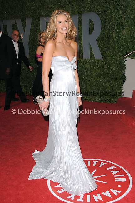 Elle Macpherson at The 2009 Vanity Fair Oscar Party held at The Sunset Tower Hotel in West Hollywood, California on February 22,2009                                                                                      Copyright 2009 RockinExposures / NYDN
