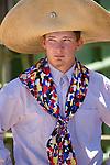 Teryn Henderson with big hat and wild rag, Jordan Valley Big Loop Rodeo