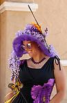DEL MAR, CA  JULY 16: Purple Butterfly hat  (Photo by Casey Phillips/Eclipse Sportswire/CSM)