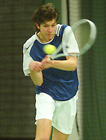 10-3-06, Netherlands, tennis, Rotterdam, National indoor junior tennis championchips, Freek Tissink