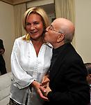 """ROSANNA LAMBERTUCCI CON DON SANTINO SPARTA<br /> """"PARTY ANTICRISI CON ESORCISMI"""" DI PAOLO PAZZAGLIA<br /> PALAZZO FERRAJOLI  ROMA 2011"""