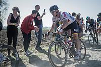 André Greipel (DEU/Lotto-Soudal) riding strong<br /> <br /> 115th Paris-Roubaix 2017 (1.UWT)<br /> One Day Race: Compiègne › Roubaix (257km)