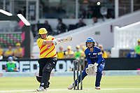 Rachel Priest, Trent Rockets pulls behind square for runs during London Spirit Women vs Trent Rockets Women, The Hundred Cricket at Lord's Cricket Ground on 29th July 2021