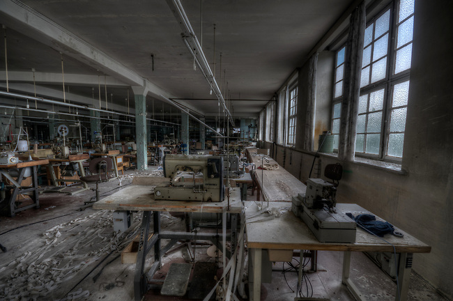 An old abandoned clothing factory in east Germany.