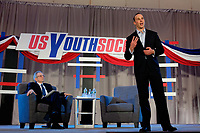 Philadelphia, PA - Saturday January 20, 2018: Michael Winograd during the U.S. Soccer Federation Presidential Election Candidates Forum hosted by US Youth Soccer at the Philadelphia Marriott Downtown Grand Ballroom.