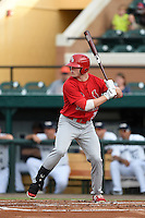 Palm Beach Cardinals outfielder Rowan Wick (28) at bat during a game against the Lakeland Flying Tigers on April 13, 2015 at Joker Marchant Stadium in Lakeland, Florida.  Palm Beach defeated Lakeland 4-0.  (Mike Janes/Four Seam Images)