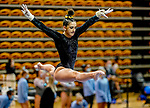 February 19, 2021: Towson University's Camille Vitoff competes on the beam during the 2nd Annual George McGinty Alumni Meet at the SECU Arena at Towson University in Towson, Maryland. Scott Serio/Eclipse Sportswire/CSM