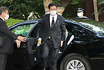 August 15, 2020, Tokyo, Japan - Shuichi Takatori, ruling LDP president Shinzo Abe's special advisor arrives at the Yasukuni shrine to honor war victims in Tokyo on Saturday, August 15, 2020. Japan marked the 75th anniversary of its surrender of World War II.        (Photo by Yoshio Tsunoda/AFLO)