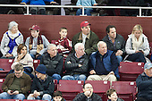 Long-time assistant coach and BC Varsity Club Hall of Famer Jim Logue was in attendance (blue vest). - The visiting College of the Holy Cross Crusaders defeated the Boston College Eagles 5-4 on Friday, November 29, 2013, at Kelley Rink in Conte Forum in Chestnut Hill, Massachusetts.