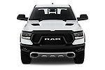 Car photography straight front view of a 2020 Ram RAM-1500 Rebel 4 Door Pick-up Front View