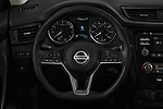 Car pictures of steering wheel view of a 2018 Nissan Rogue S 5 Door SUV Steering Wheel