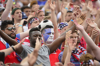East Hartford, CT - Saturday July 01, 2017: USA supporters during an international friendly match between the men's national teams of the United States (USA) and Ghana (GHA) at Pratt & Whitney Stadium at Rentschler Field.