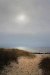 Hammonasset State Beach Park. Moody winter day. Long Island Sound