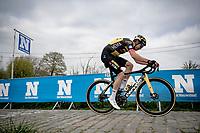 Wout van Aert (BEL/Jumbo-Visma) up the final Paterberg climb<br /> <br /> 105th Ronde van Vlaanderen 2021 (MEN1.UWT)<br /> <br /> 1 day race from Antwerp to Oudenaarde (BEL/264km) <br /> <br /> ©kramon